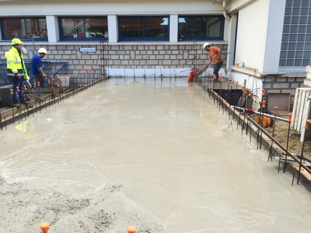 Chantier expérimental RECYBETON : réalisation d'une extension de bâtiment avec du béton recyclé