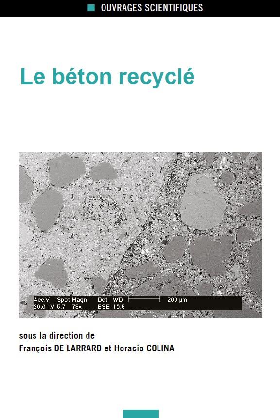 """Publication de l'ouvrage """"Le béton recyclé"""""""