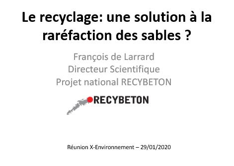 [Réunion-débat] Le recyclage: une solution à la raréfaction des sables ?